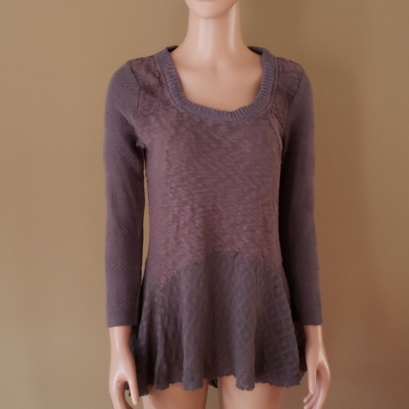 Anthropologie Meadow Rue cotton blend top S